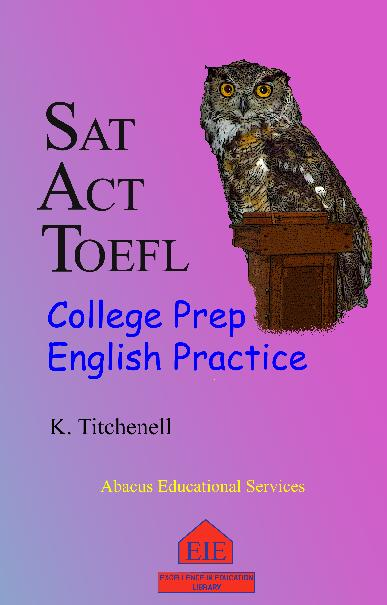 College Prep English Practice book cover